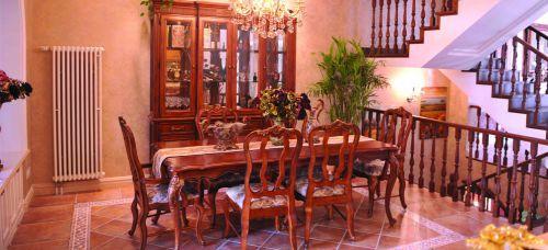 美式古典风格别墅客厅装修效果图大全
