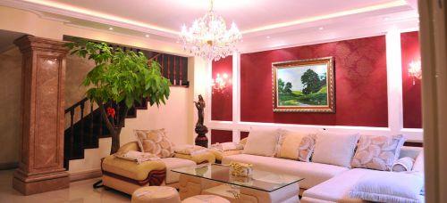 美式古典风格别墅客厅装修图片欣赏
