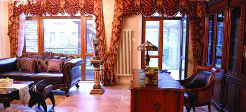 美式古典风格别墅客厅装修效果图