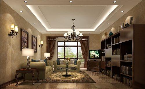 美式风格三居室客厅沙发装修效果图大全