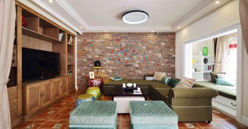 现代美式四居室客厅沙发装修效果图大全