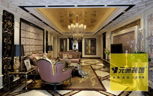 美式风格三居室客厅装修效果图欣赏