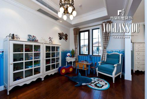 美式新古典五居室客厅装修图片
