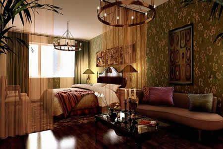 美式新古典三居室客厅装修效果图欣赏