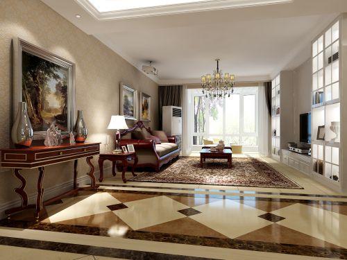 美式古典三居室客厅装修图片欣赏