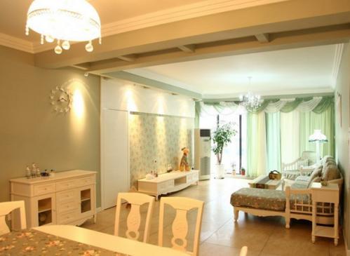 美式乡村二居室客厅装修图片欣赏
