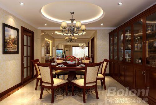美式古典三居室客厅装修图片