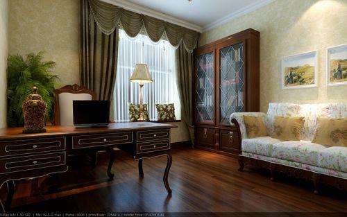 美式乡村三居室客厅装修效果图欣赏