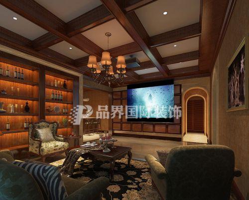 美式三居室客厅装修效果图大全