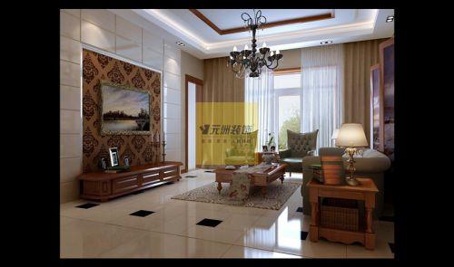 美式一居室客厅装修图片