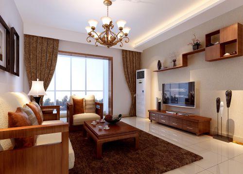 美式地中海风格三居室客厅装修效果图欣赏