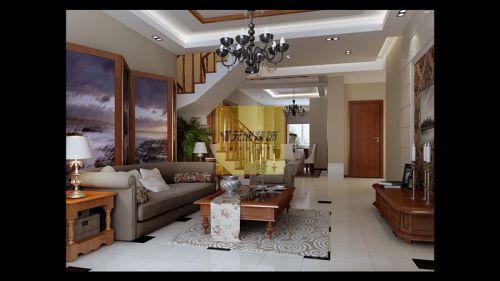 美式一居室客厅装修效果图