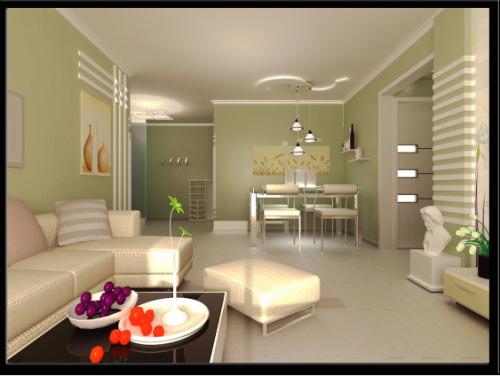 现代简美式二居室客厅装修效果图欣赏