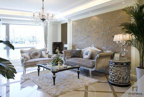 美式新古典别墅客厅装修效果图欣赏