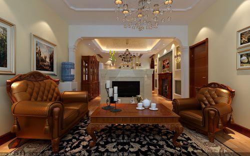 美式二居室客厅装修效果图