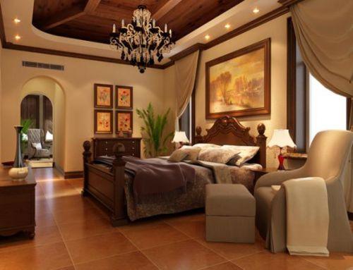 美式乡村别墅客厅装修效果图欣赏