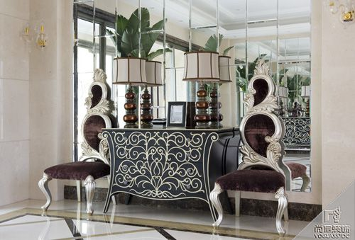 美式古典四居室客厅装修效果图欣赏
