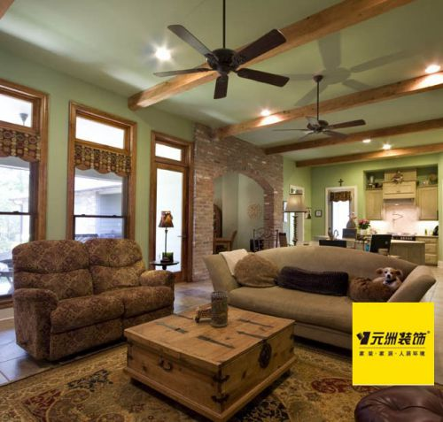 纯美式风格四居室客厅装修效果图大全