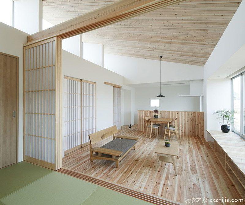 极简原木韩式风格客厅装修效果图