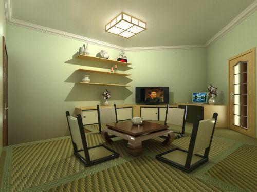 韩式风格一居室客厅装修图片