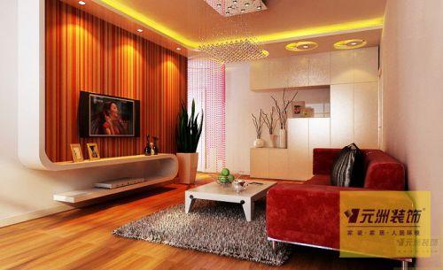 韩式风格二居室客厅装修效果图欣赏