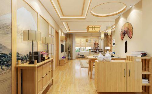 韩式风格三居室客厅组合柜装修效果图