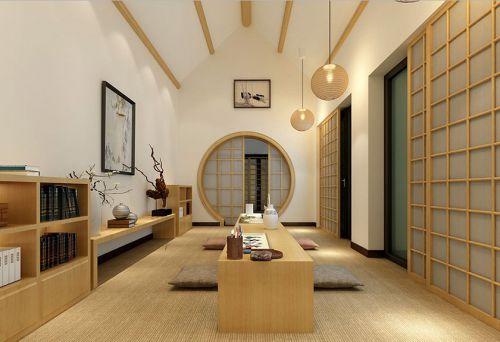 韩式风格四居室客厅背景墙装修效果图欣赏