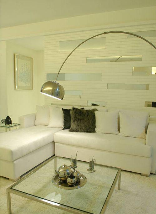 韩式风格二居室客厅背景墙装修效果图