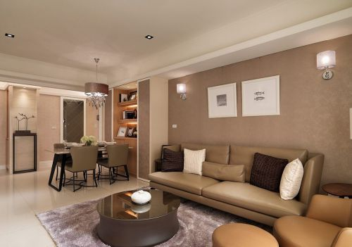 雅致韩式风格五居室客厅家居装修设计