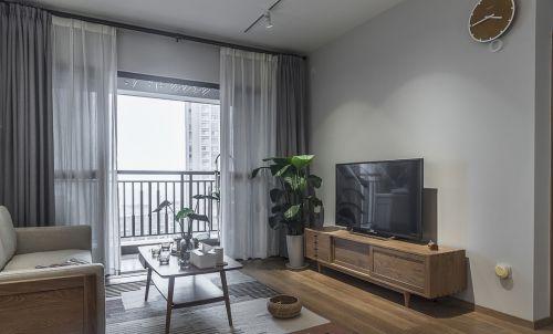 清新两居室日式风格客厅设计效果图
