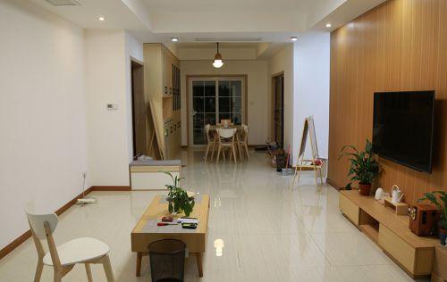 116平日式风格三居室客厅设计图
