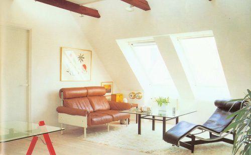 清新韩式风格客厅背景墙实景图
