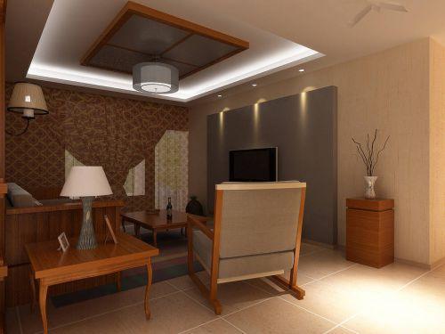 韩式风格三居室客厅电视背景墙装修设计
