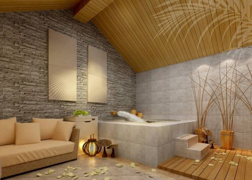 韩式风格客厅木质吊顶装修效果图