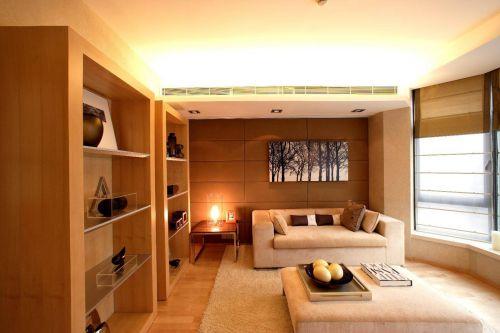 韩式风格小户型客厅飘窗置物架装修设计