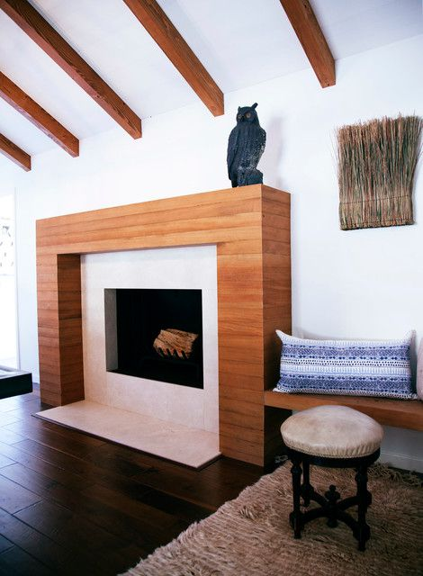 韩式风格公寓客厅暖炉装修设计