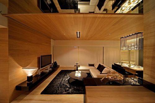 韩式风格四室两厅客厅吊顶装修效果图