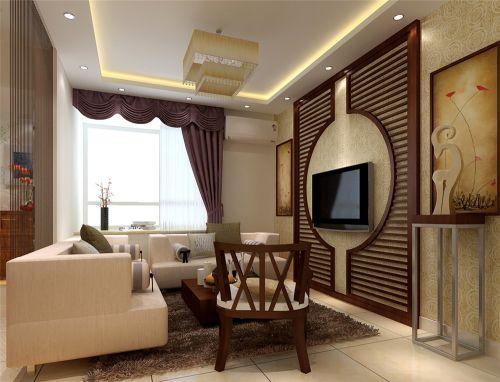 东南亚风格一居室客厅装修效果图欣赏