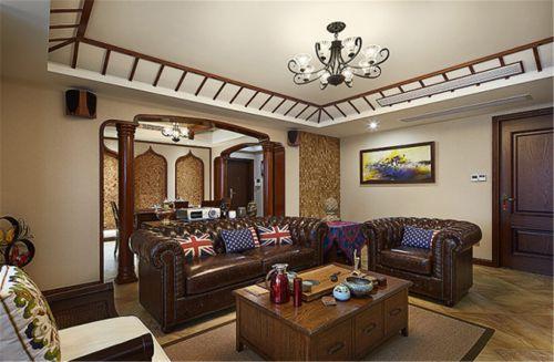 121平东南亚风格公寓客厅装修效果图