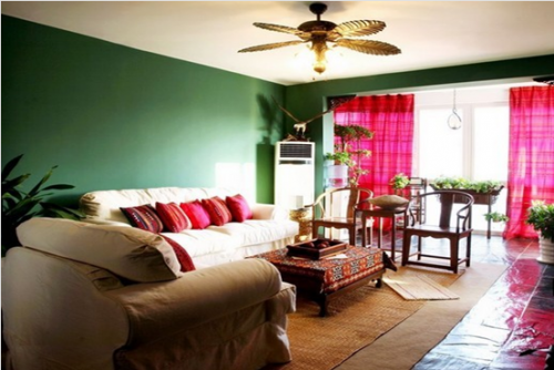 东南亚风格一居室客厅装修效果图大全