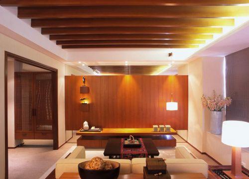 东南亚风情别墅客厅吊顶装修效果图