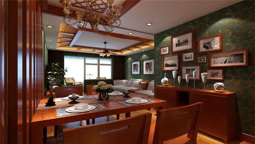 东南亚风格二居室客厅背景墙装修效果图欣赏