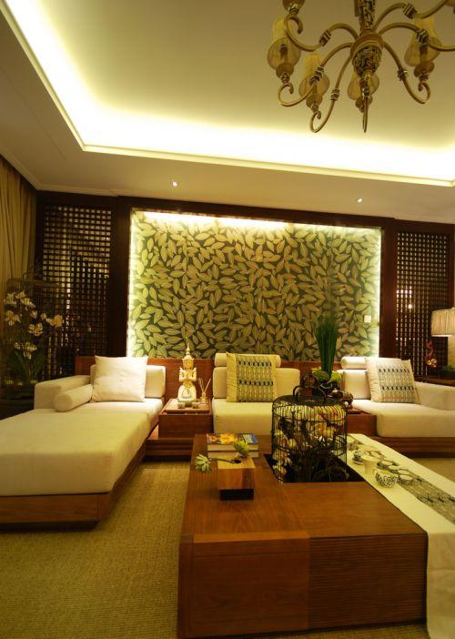 东南亚风格休闲自然客厅装修效果图