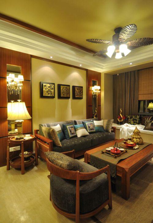 东南亚风格四居室客厅装修图片