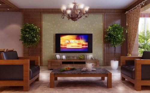 东南亚风格二居室客厅背景墙装修效果图大全