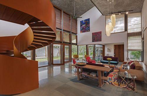 奢华东南亚风格别墅客厅装修图片