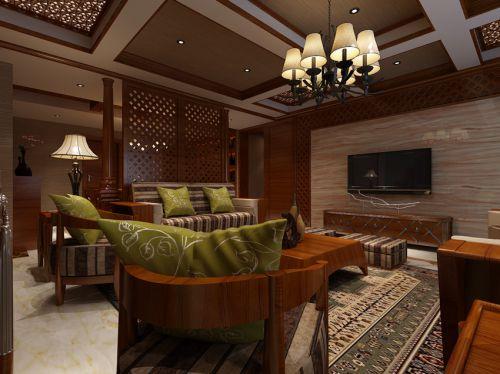 东南亚风格五居室客厅装修效果图大全