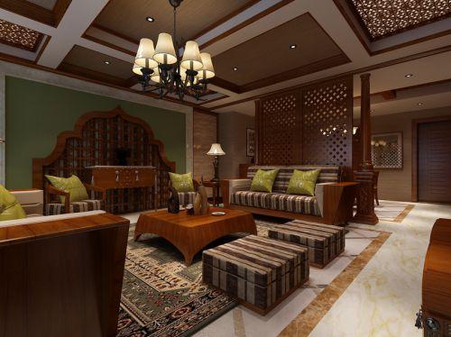东南亚风格五居室客厅装修图片欣赏