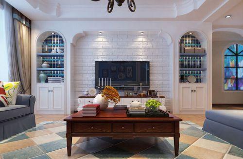 东南亚风格四居室客厅茶几装修效果图欣赏