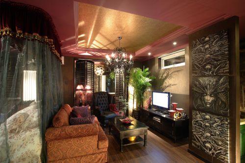 东南亚风格三居室客厅沙发装修效果图欣赏